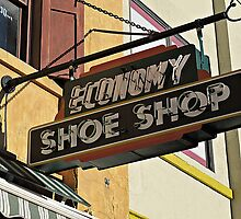 Shoe Shop Sign  by Ethna Gillespie