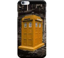 Golden Tardis  iPhone Case/Skin