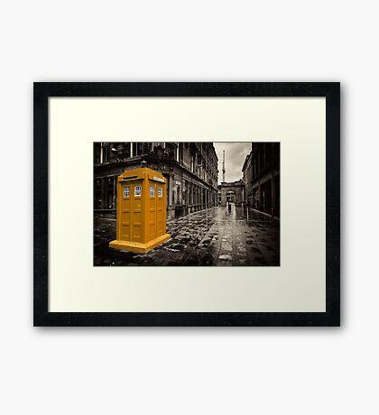 Golden Tardis  Framed Print