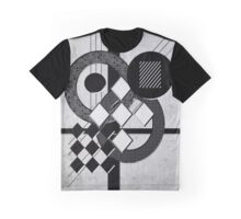 Which Way is Up - Black and White Graphic T-Shirt