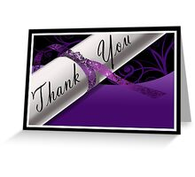 Purple & White Diploma Thank You Card Greeting Card