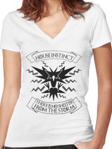 House Instinct Women's Fitted V-Neck T-Shirt