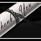 Black & White Diploma Thank You Card by treasured-gift