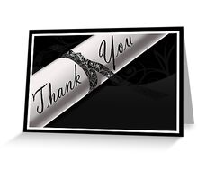 Black & White Diploma Thank You Card Greeting Card