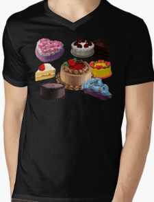 Cake Mens V-Neck T-Shirt