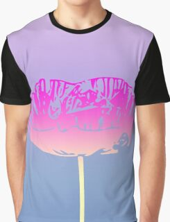 Unique Pink Poppy Flower Design Graphic T-Shirt