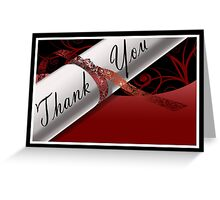 Red & White Diploma Thank You Card Greeting Card