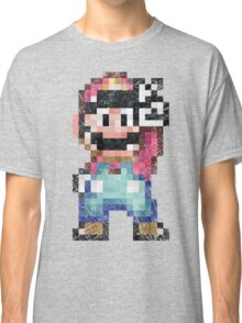 Mario World Vintage Pixels Victory Classic T-Shirt