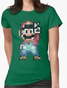 Mario World Vintage Pixels Victory Womens Fitted T-Shirt