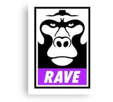 Rave Monkey  Canvas Print