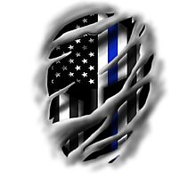 Thin Blue Line Spartan Photographic Print