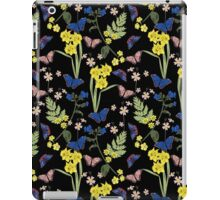 Floral botanical print with butterflies and wild flowers iPad Case/Skin