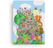 All Kinds of Critters Canvas Print