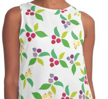 Background berry grey Contrast Tank