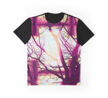 Harmonious Colors - Fuschia Sky Blue And Cream Graphic T-Shirt