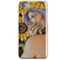 woman in sunflowers iPhone Case/Skin
