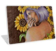 woman in sunflowers Laptop Skin