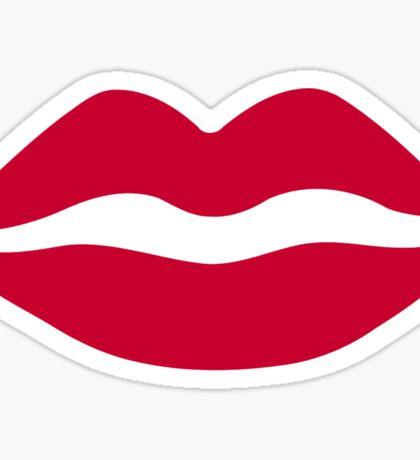 Red kiss Sticker