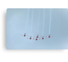 The Roulettes Aerobatic Team Canvas Print