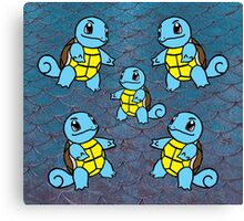 Squirtle Mirror Pattern Canvas Print
