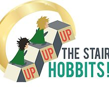 Up Up UP the stairs hobbits ! by LuciaSR