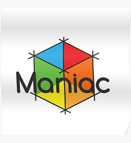 Maniac Cube Poster