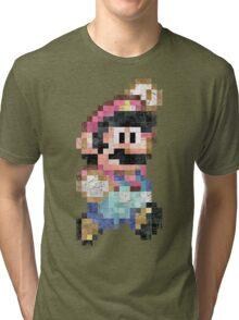 Mario World Jump Vintage Pixels Tri-blend T-Shirt