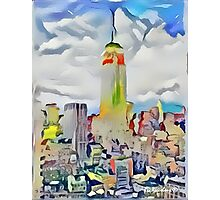 Empire State Building New York City Abstract Photographic Print