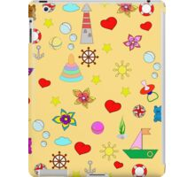 Pattern with toys and hearts iPad Case/Skin