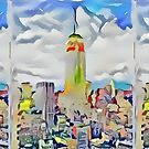 Empire State Building New York City Abstract by RDRiccoboni
