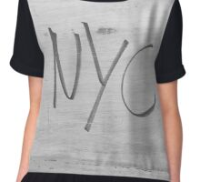 NYC Style bw NEW YORK CITY  Chiffon Top