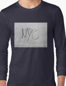 NYC Style bw NEW YORK CITY  Long Sleeve T-Shirt