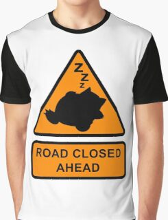 Road Closed Ahead Graphic T-Shirt