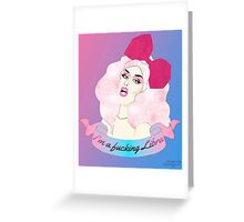"Adore Delano ""I'm a fucking Libra"" Greeting Card"