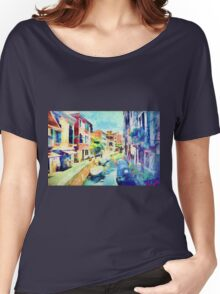 An Afternoon By The Canal Women's Relaxed Fit T-Shirt