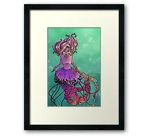 Black Sea Nettle Mermaid Framed Print