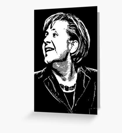 Angela Merkel Greeting Card