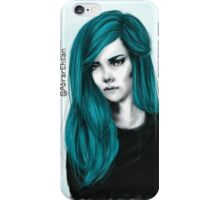 Turquoise hair color iPhone Case/Skin
