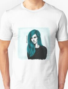 Turquoise hair color Unisex T-Shirt
