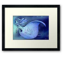 Black Manta Mermaid Framed Print