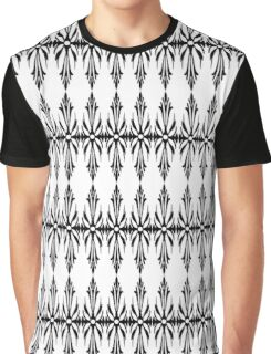 Black seamless classic floral pattern Graphic T-Shirt