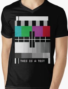 -Just A Test- Mens V-Neck T-Shirt