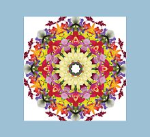 Abundantly colorful orchid mandala Unisex T-Shirt
