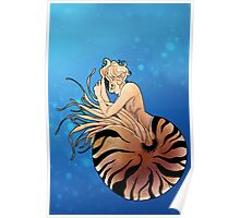 Chambered Nautilus Mermaid Poster