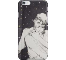 A man and his bird in a starry sky iPhone Case/Skin