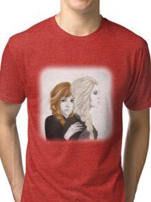 Elsa and Anna - Frozen  Tri-blend T-Shirt