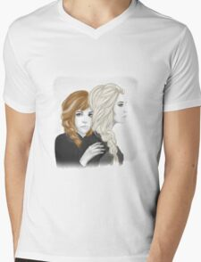 Elsa and Anna - Frozen  Mens V-Neck T-Shirt