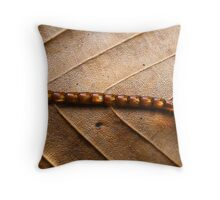 Mystery on a Beech Leaf Throw Pillow