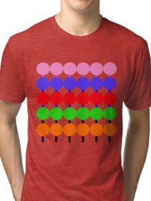 Lollipops Design Pattern Tri-blend T-Shirt
