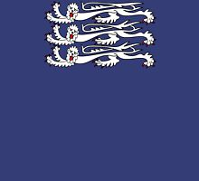 Three Lions, 3 LIONS, Royal Banner of England, UK, Britain, British, Knights, on ROYAL BLUE Unisex T-Shirt